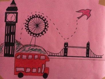 Myna flying in London.
